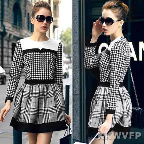 Black and white shirt mini dress AVS LMUW