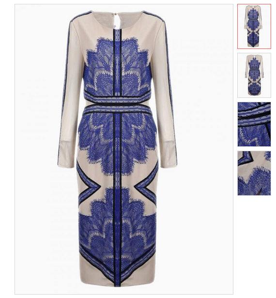 Bluce lace contrast blogger midi Three floor like dress LMUW AVS