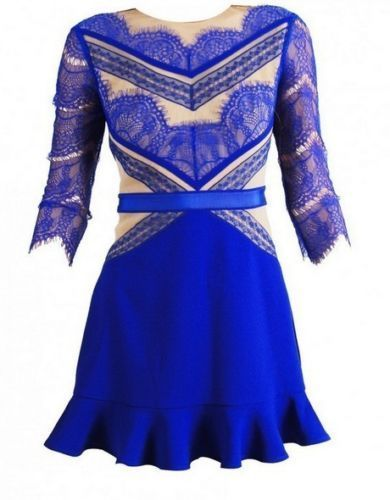 BLUE SHADE LACE DRESS LMUW AVS lucy amanda