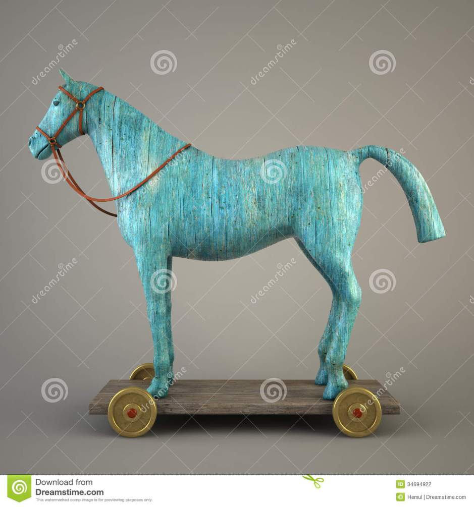 GREEN WOOD HORSE HAPPY NEW YEAR OF  2014 LMUW AVS