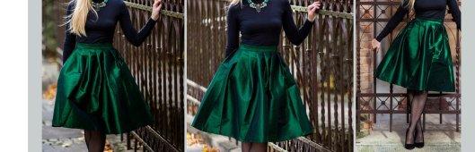 green midi full skirt AVS LMUW