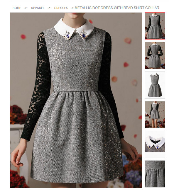 Grey silver scuba full jewelled dres LMUW AVS