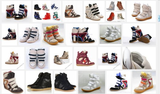 ISABEL MARANT WILLOW sneakers wedge trainers collection LMUW AVS_