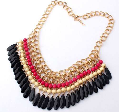 statment necklace LMUW AVS- red bids