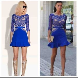 three floor LUCY blue lace dres AVS LMUW