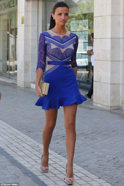 three floor LUCY blue lace dres AVS LMUW_