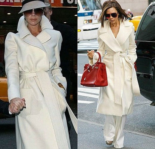 white LONG ovwersized coat AVS LMUW