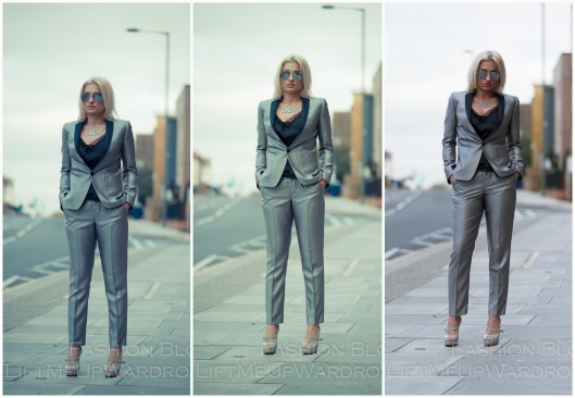 Silver suit CARA TOP SHOP LMUW AVS
