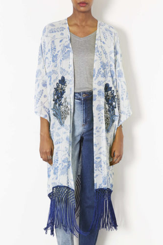 Topshop pale blue fringe long kimono LMUW AVS fashion bloggers_