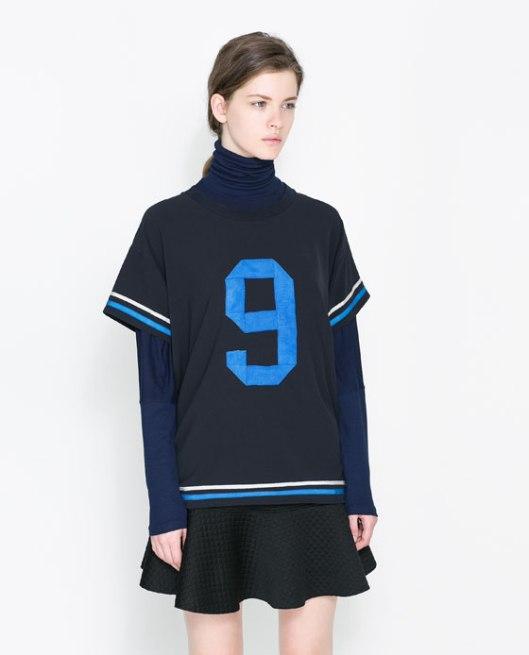 5644026401_1_1_1 ZARA sporty T-shirt with number LMUW AVS
