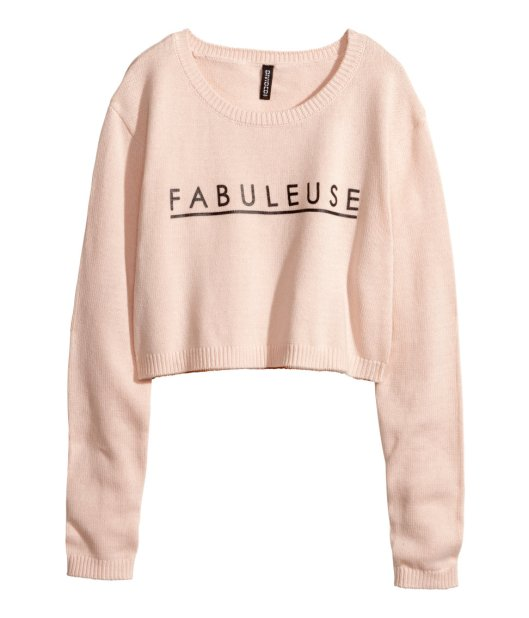 fabolouse pastel pink knitted crop top LMUW