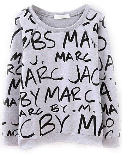 grey sweatshirt LMUW LOGO designer inspired