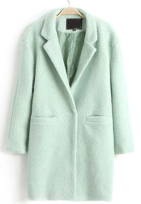 MINT GREEN coat LMUW