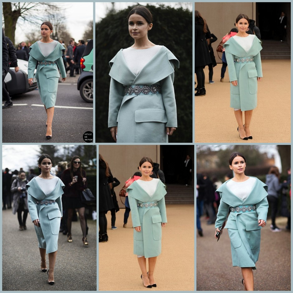 Mira duma pastel coat with waist belt LMUW