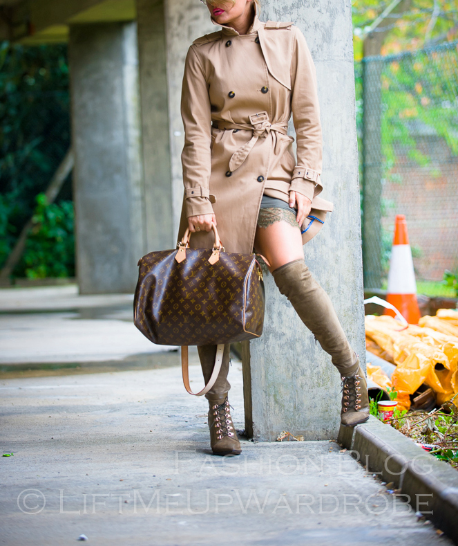 LMUW october fashion over the knee boots lingerie lace green khaki LV MK mac jumpsuit-0071