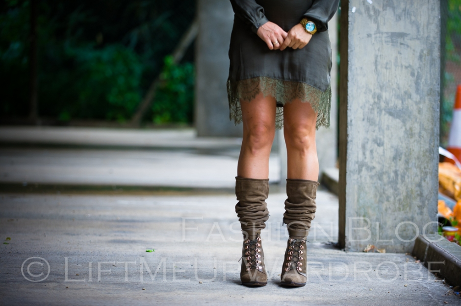 LMUW october fashion over the knee boots lingerie lace green khaki LV MK mac jumpsuit-0087
