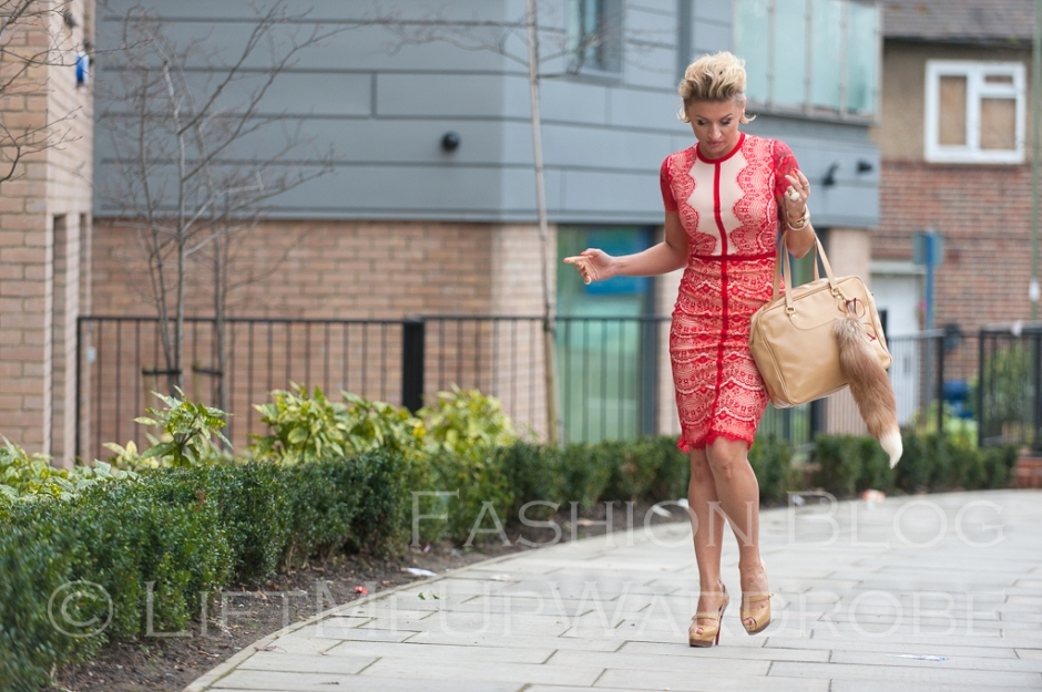 missguided SATSUKO LACE DRESS RED Christian Louboutin BAG charm FUR timberland 14-  bloggers zara studio red sole-0025