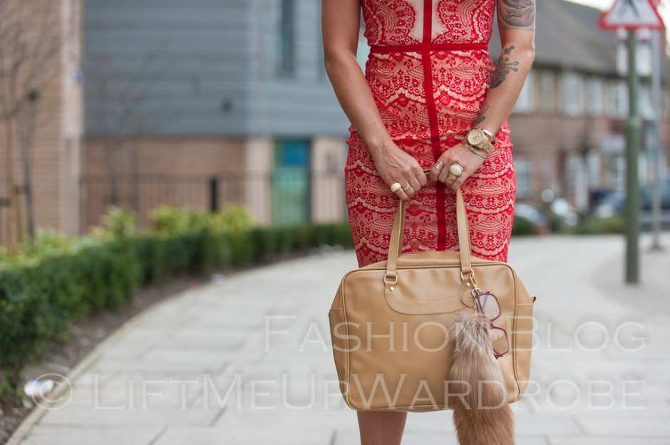 missguided SATSUKO LACE DRESS RED Christian Louboutin BAG charm FUR timberland 14-  bloggers zara studio red sole-0036