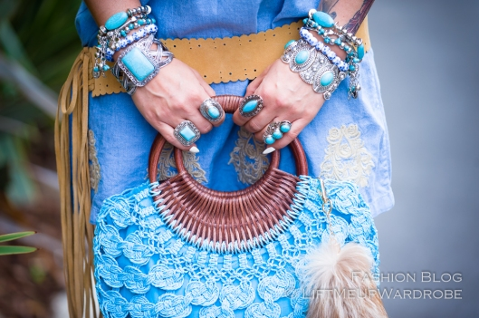 ss15 boho hippie bohemian suede lace up tigh high fringe tassel turquoise silver vintage tibetan LMUW -0028