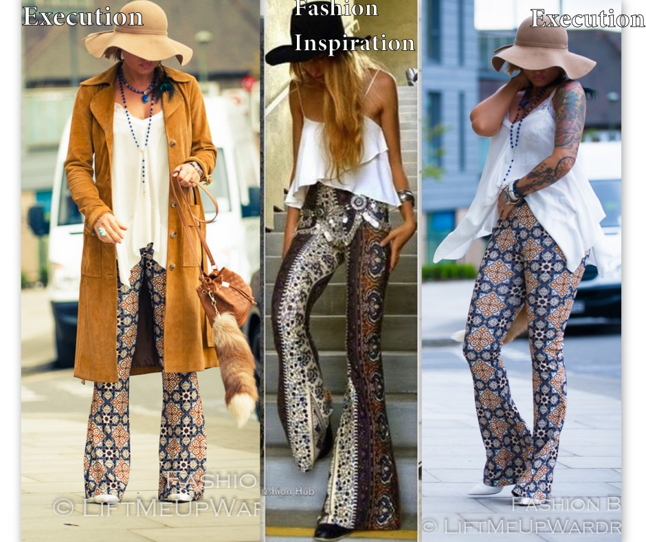 flared flare bell boot cut gypsy hippie print ethnic peasant TRUE religion embroidered peasant top_LMUW