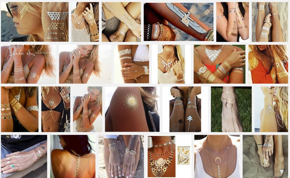 Metallics Temporary tattoos LMUW AVS _