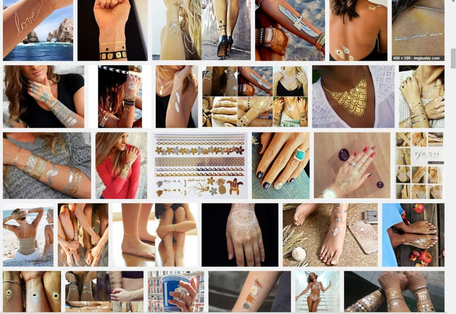 Metallics Temporary tattoos LMUW AVS