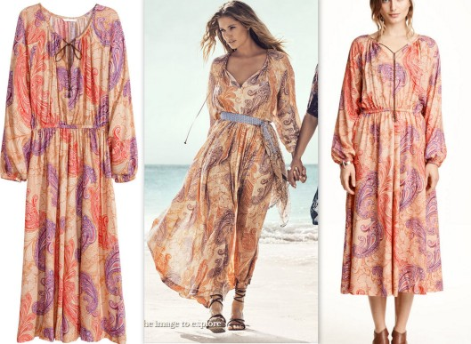 Paisley beach kaftan dress HM summer collection LMUW AVS