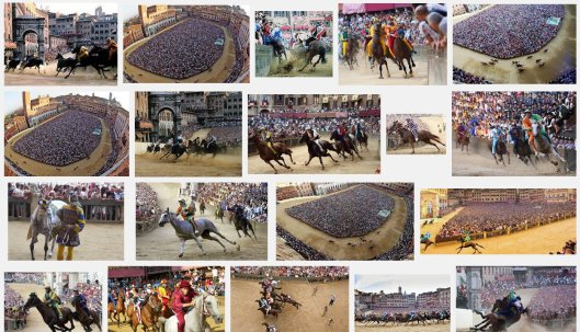 Siena Palio Race 2015 2nd july TUSCANY italy horse race